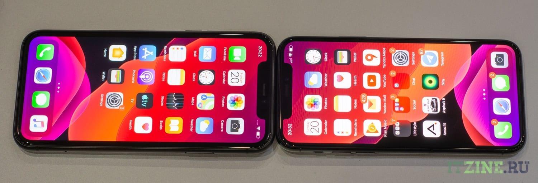 Экраны iPhone 11 и iPhone 11 Pro