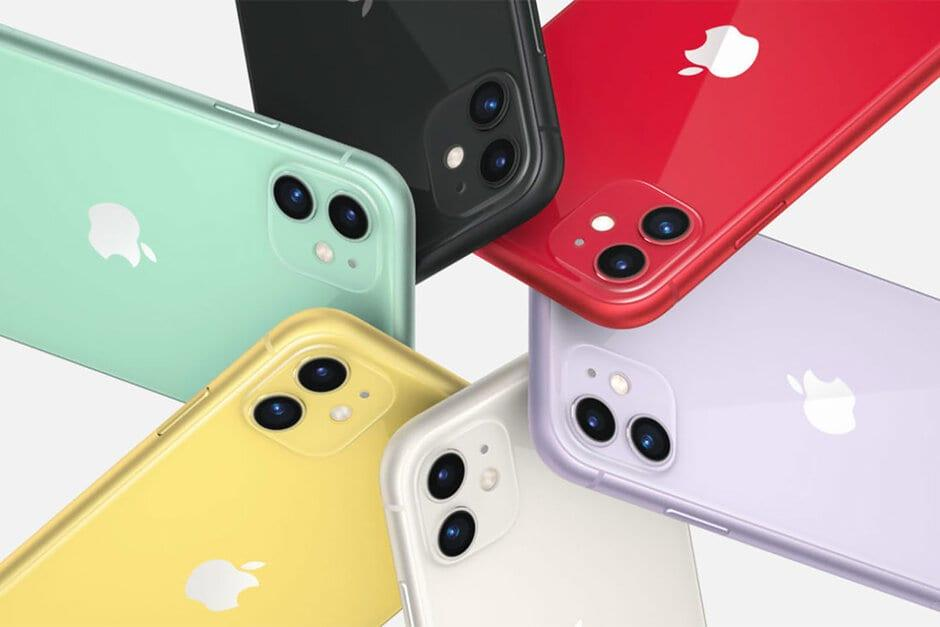 Apple бесплатно заменит экран некоторым пользователям iPhone 11 (iphone 11 all new colors closer look green purple red yellow white and black)
