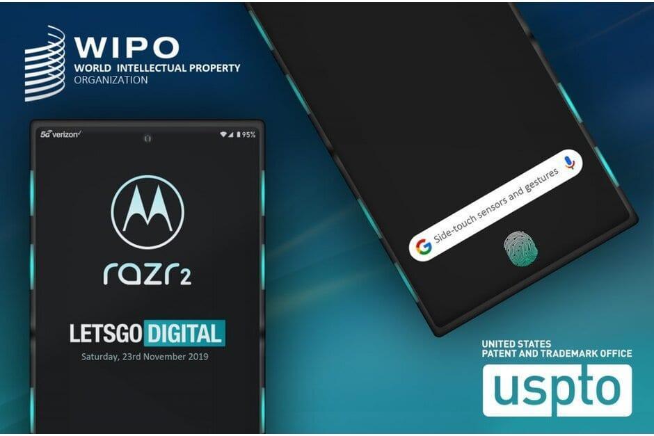 Motorola Razr 2 может получить боковые датчики и сканер отпечатков в экране (motorola razr 2 could feature side sensors and an in display fingerprint reader)