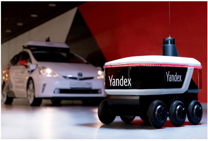 Яндекс тестирует сервис автономный сервис доставки в офисе (orig)