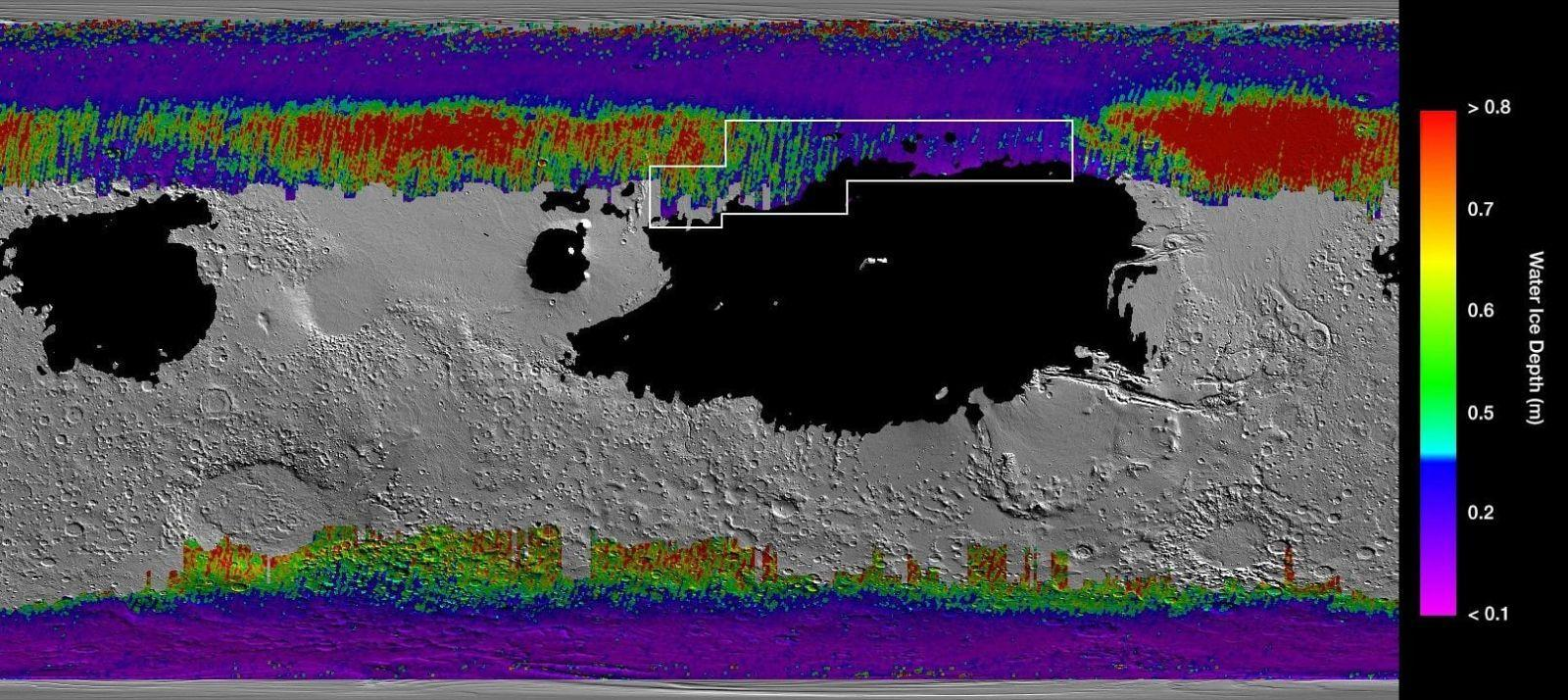 NASA создала карту воды на поверхности Марса (dims 1)