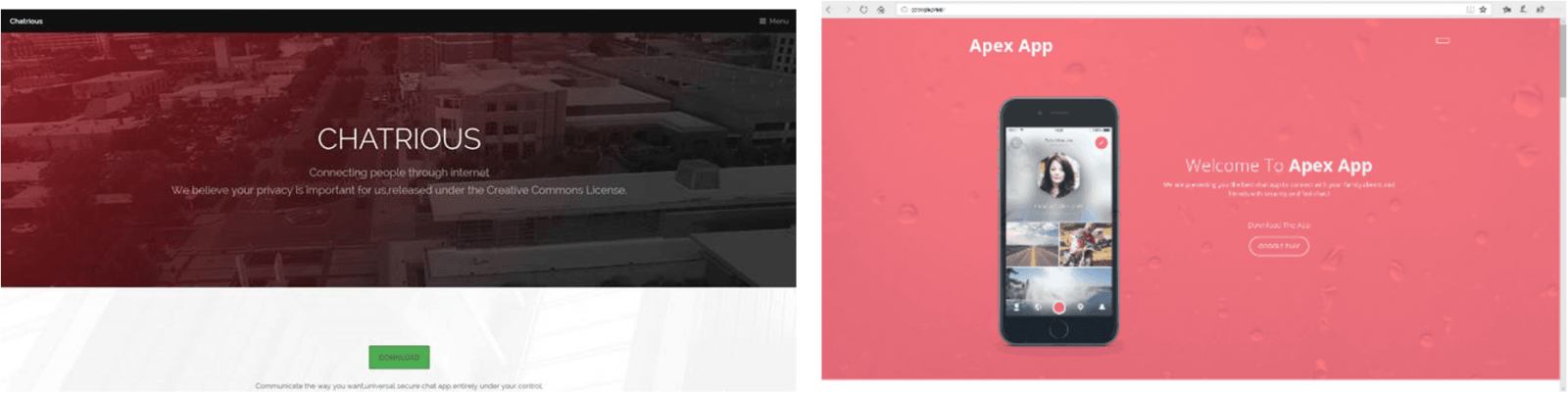 Новый вирус на Android тайно делает снимки экрана и отсылает их злоумышленникам (fig 1 callerspy chatrious apex app)