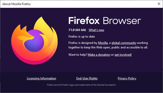 Вышло обновление FireFox 71: теперь есть функция картинка в картинке, оповещение о попытках взлома и многое другое (firefox 71.0)