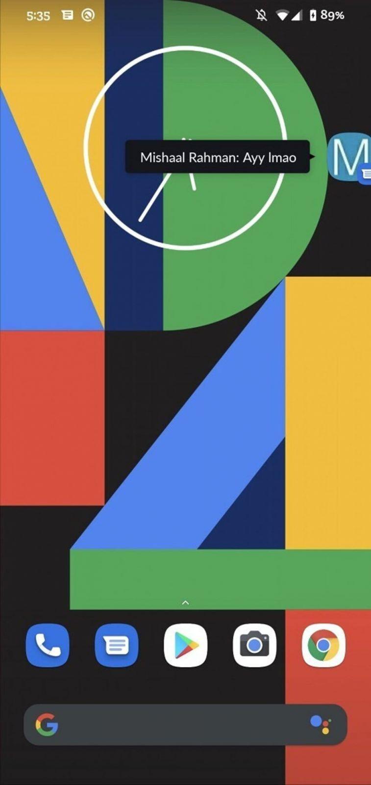 Google тестирует плавающие чаты в мессенджере (float a)