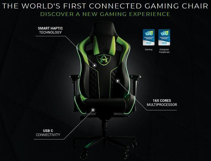 CES 2020. Показали вибрирующее кресло для геймеров (arcadeo gaming 2)