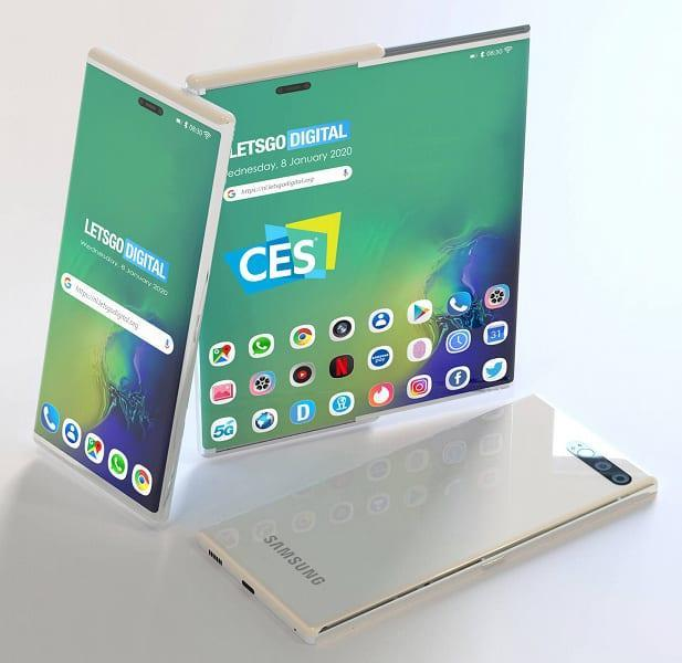 CES 2020. Samsung показала прототип нового складывающегося смартфона (galaxy telefoon met slider scherm large)