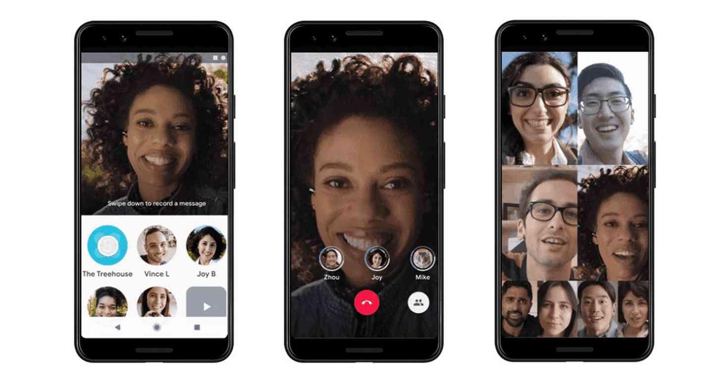 Google работает над ещё одним приложением чата (google duo eight person call)