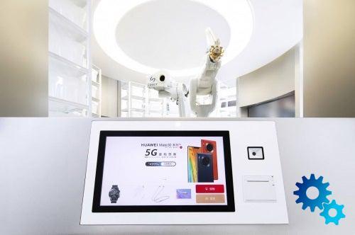 Huawei открыла магазин с роботизированным персоналом (huawei opened the first unmanned store in china 2)