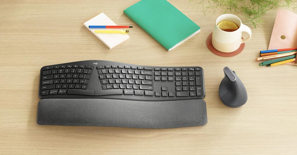 Logitech выпустила эргономичную изогнутую клавиатуру Ergo K860 (logitechs new split ergo k860 keyboard expands its ergonomic accessory lineup circuit breaker)
