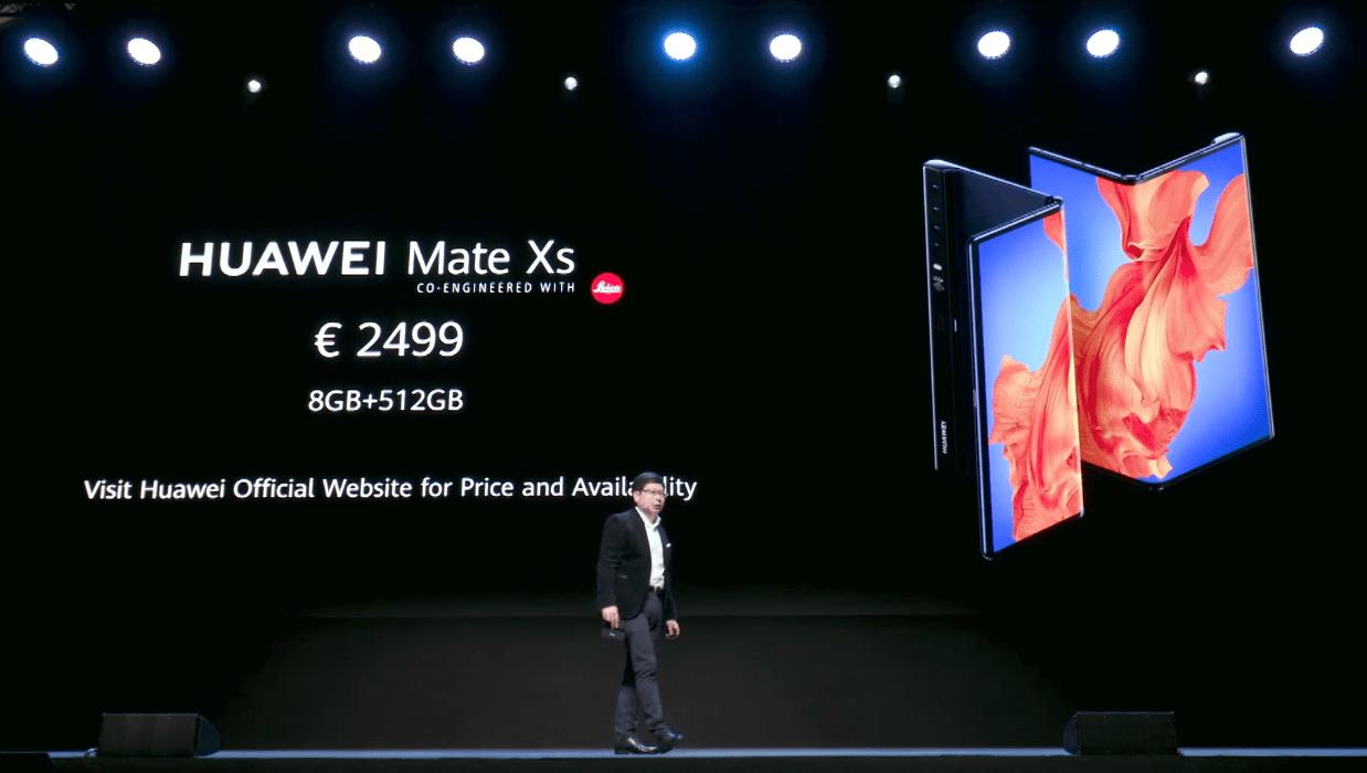 Huawei представила новый складной смартфон Huawei Mate Xs (capture)