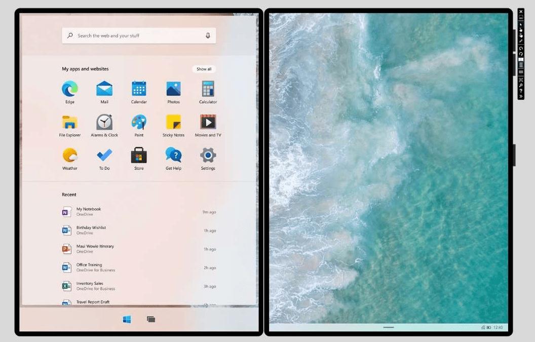 Microsoft выпустила бета-версию ОС Windows 10X (download windows 10x wallpapers large)