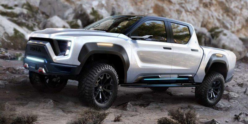 Компания Nikola Corporation представила конкурента Tesla Cybertruck (nikola badger electric pickup truck)