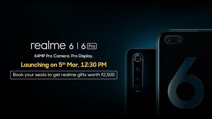 Запуск серии Realme 6