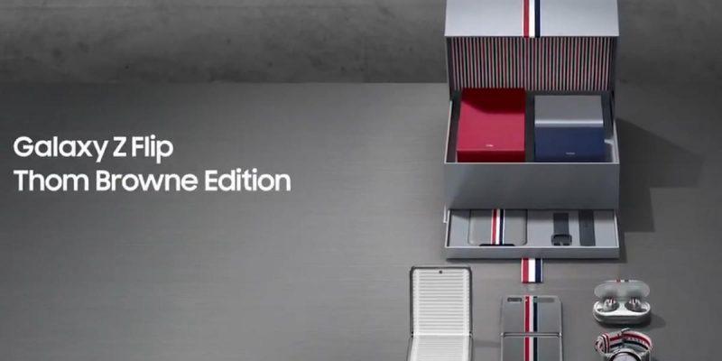 Видео рассекречивает лимитированную версию флагмана Samsung Galaxy Z Flip Thom Browne Edition (rnpyxfp.0)