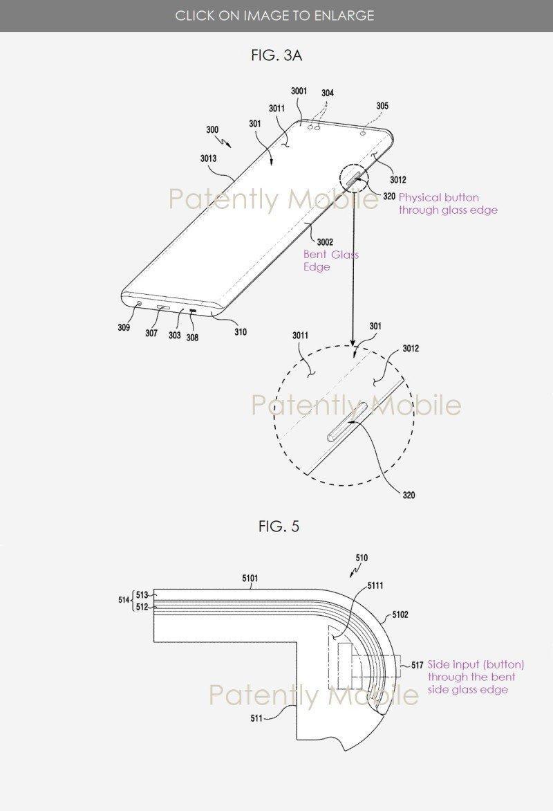 Вероятно, Galaxy Note 20 получит ультра-изогнутый экран (samsung patent sketch 2)