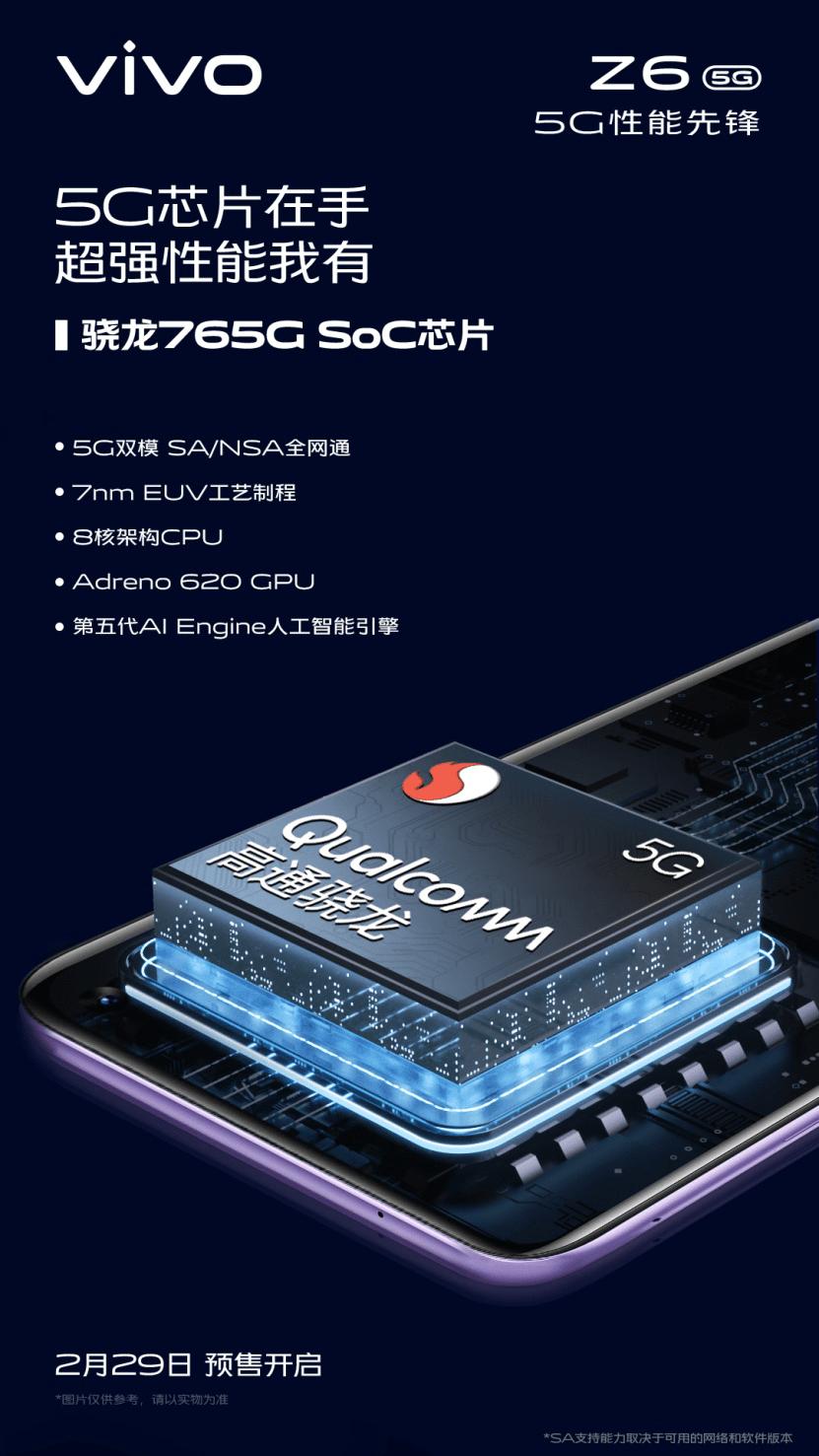 Vivo Z6 5G Chipset Details