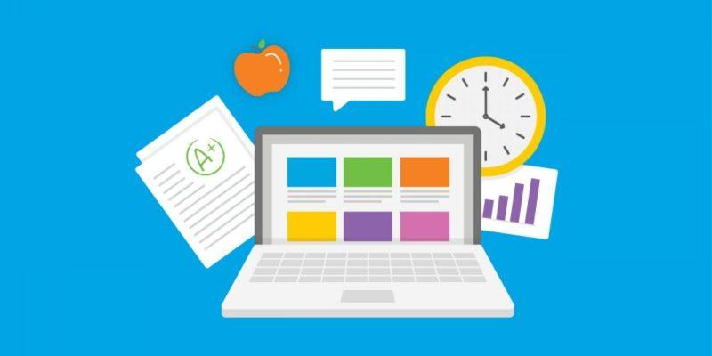 Из-за коронавируса взлетела популярность приложения Google Classroom (blue laptop)