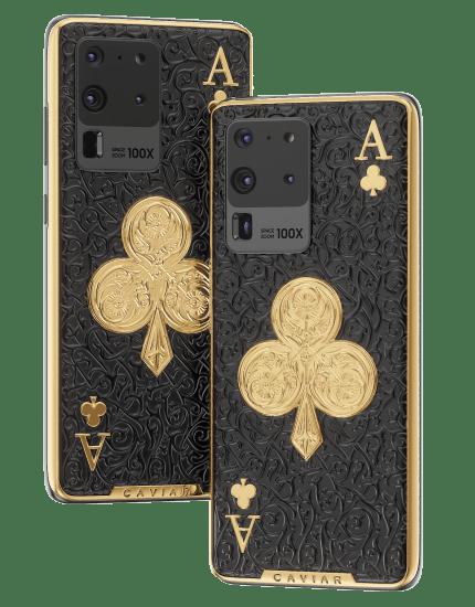 Galaxy S20 Ultra с золотыми вставками от Caviar за 2.5 миллиона рублей (caviar s20 ace of clubs 4 mpage)