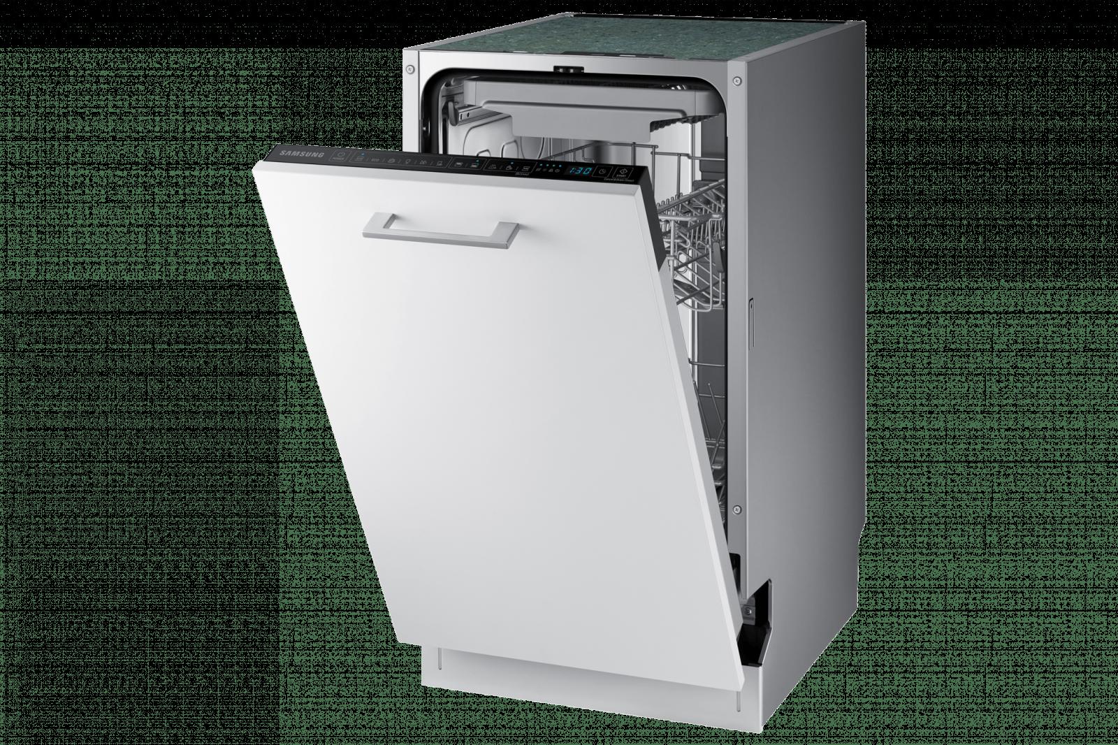 Samsung выпустил новые посудомоечные машины в России (dw50r4070bb eo 007 l perspective2 white)