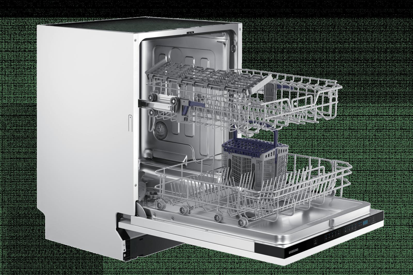 Samsung выпустил новые посудомоечные машины в России (dw60m5050bb eu 007 l perspective open white)