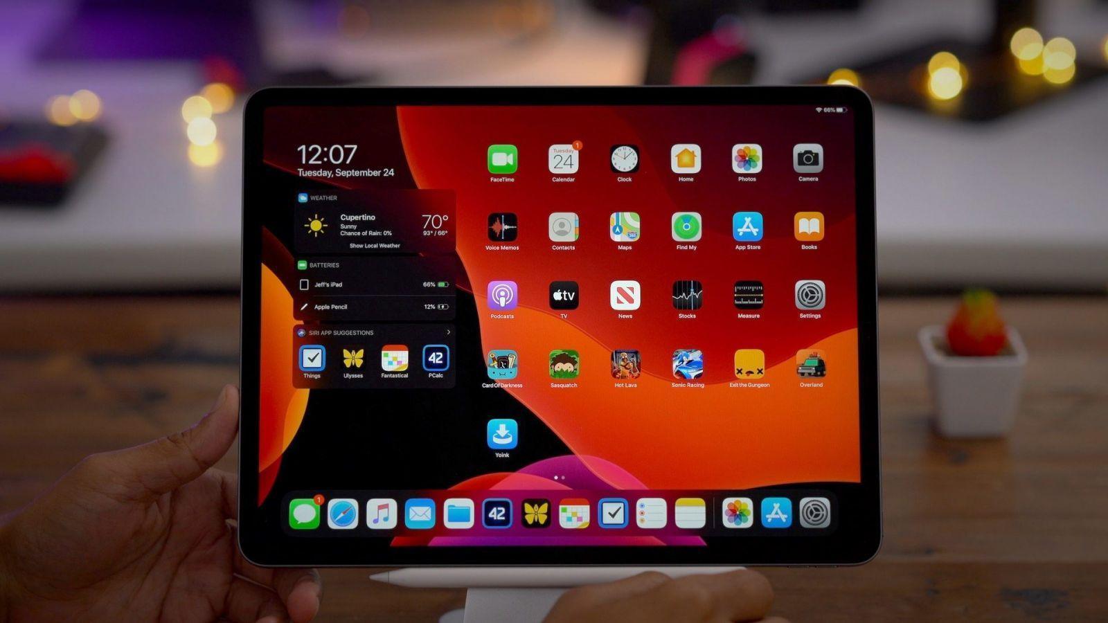 iPad получат поддержку трекпадов с обновлением iOS 13.4 (ipados 13.1 dark mode)