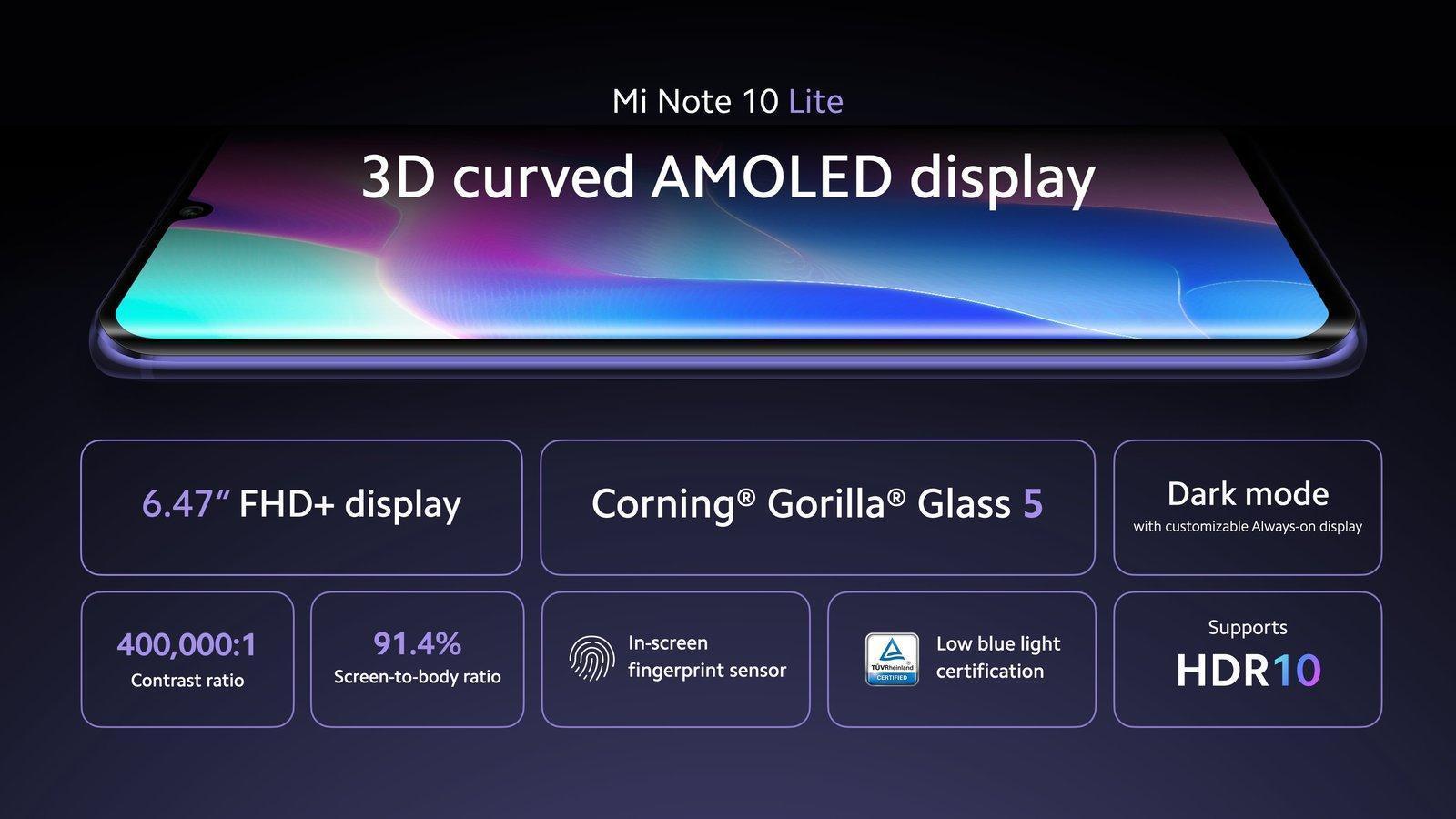Xiaomi представила смартфон Mi Note 10 Lite ()
