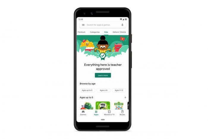 В Google Play Store появился новый раздел для детей ()
