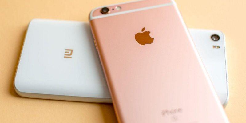 Apple и Xiaomi наращивают темпы продаж в Китае (androidpit xiaomi mi5 vs apple iphone 6s logo)