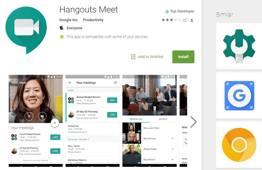 Google запустила приложение Google Meet для видеоконференций (hangouts meet)