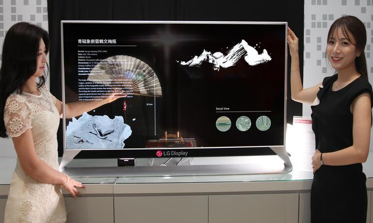 LG Display выпустит прозрачный OLED-экран (lgd55 inch oled4)