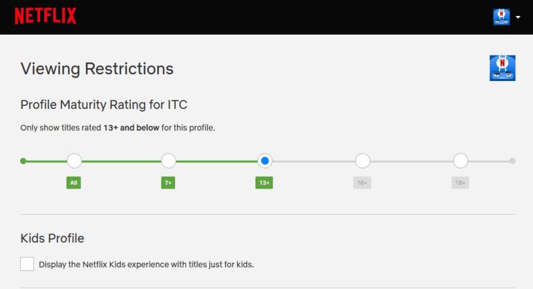 Netflix обновил функцию родительского контроля (profile parental controls 2)