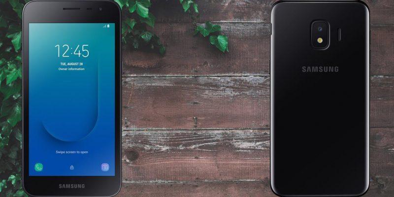 Samsung представила самый дешёвый смартфон (samsung galaxy j2 core wood background)