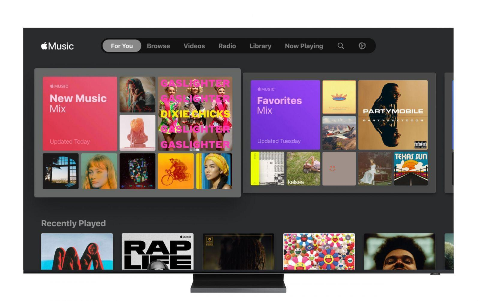 Samsung запустила Apple Music на своих телевизорах (samsung smart tv and apple music 01 scaled)