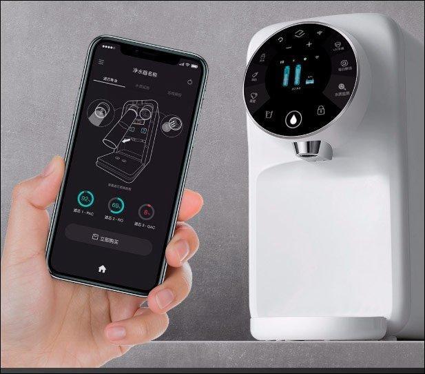Компания Yimu Technology представила интеллектуальный дозатор горячей воды Yimu Smart Instant (xiaomi agua quente hot dispenser yimu 02)