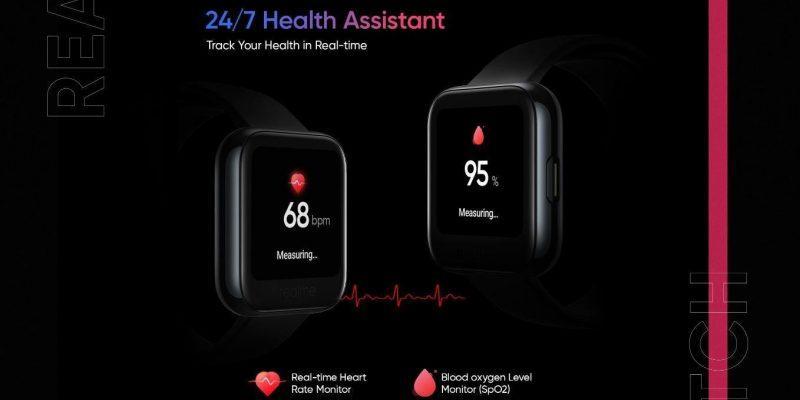 Realme наконец представила новые смарт-часы Realme Watch (15898734244realme watch health assistant)