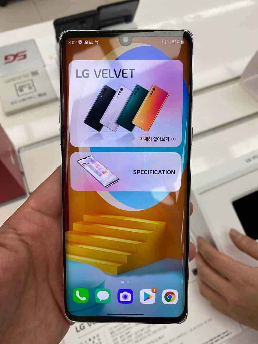 Новые фотографии LG Velvet выявили ранее неизвестные функции (LG Velvet 2)