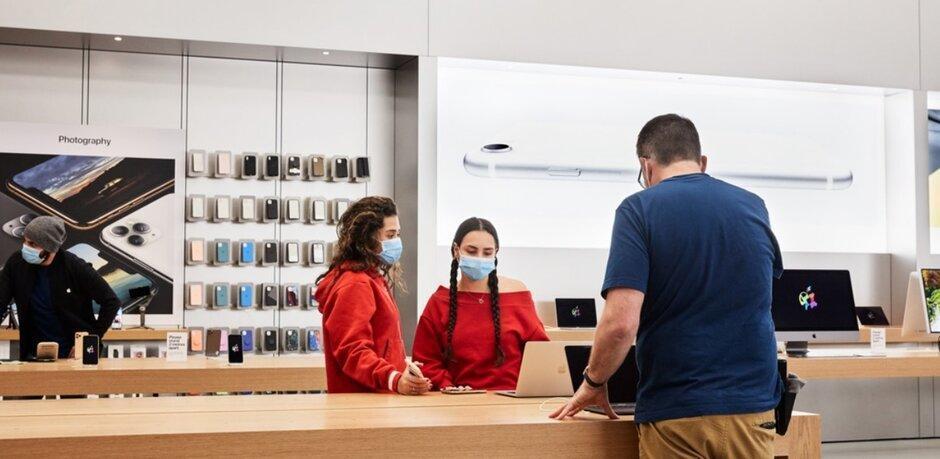 Apple открывает 25 магазинов Apple Store в США (applestorereopen a)