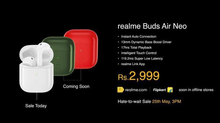 Realme представила беспроводные наушники Realme Buds Q и Buds Air Neo (buds2)