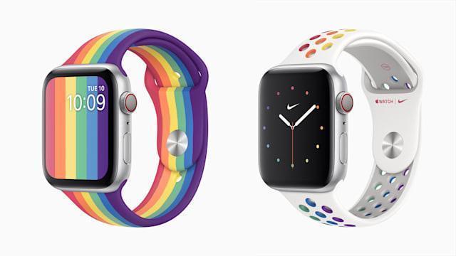 Apple сделала два новых радужных ремешка Watch для Pride (dims)