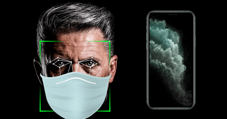 Вышла iOS 13.5. Разблокировать iPhone в маске стало проще (header image unlock face mask touch id iphone 796x417 1)