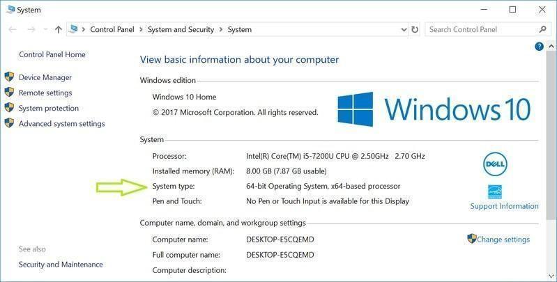 Windows 10 не будет поддерживать 32-битные процессоры (how to tell if you are running windows 64 bit or 32 bit)