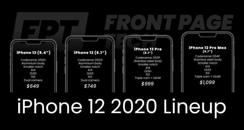 Apple может выпустить 4 модели iPhone 12 (iphone large)