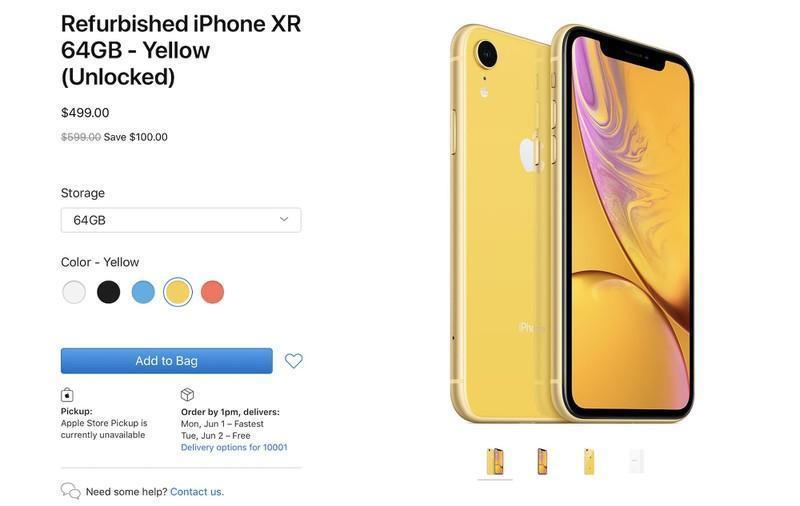 Apple начала продажи восстановленных iPhone XR ()