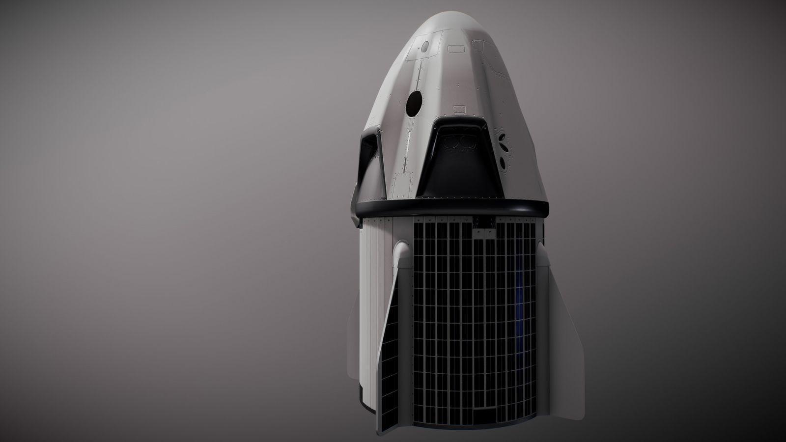 Сегодня SpaceX запустит Crew Dragon: начало трансляции в 23:33 по МСК (jack parsons dragon by hiyu sketchfab 2)
