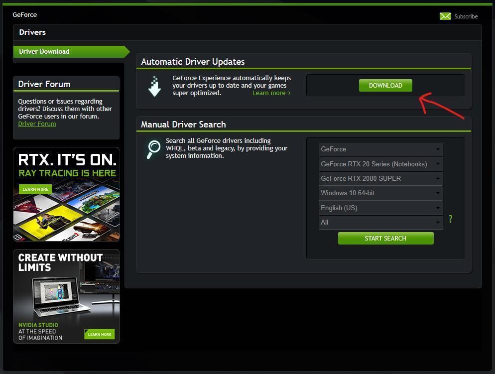 Как обновить драйверы NVIDIA на компьютере (nvidia 2)