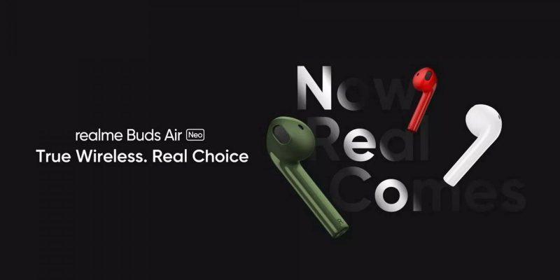 Realme анонсировала бюджетные беспроводные наушники Buds Air Neo (realme buds air neo cuffie tws data uscita)