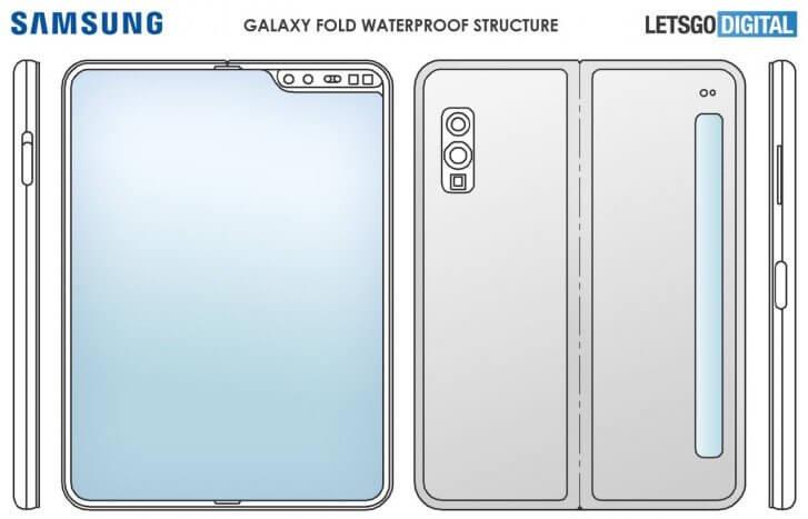 Samsung Galaxy Fold 2 получит дополнительный дисплей (samsung galaxy fold 2 design)