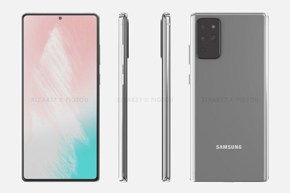 Первые изображения Samsung Galaxy Note 20 (samsung galaxy note 20 renders suggest new s pen placement)