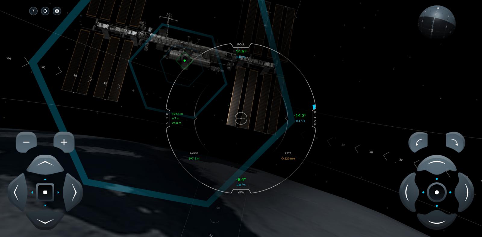 SpaceX выпустила симулятор стыковки космического корабля с МКС (screenshot from 2020 05 13 15 29 15)
