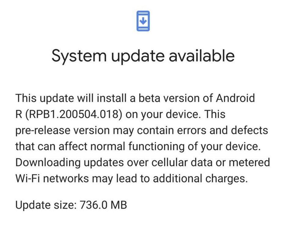Ошибка Google позволила обновить Pixel 4 XL до бета-версии Android 11 (a11)